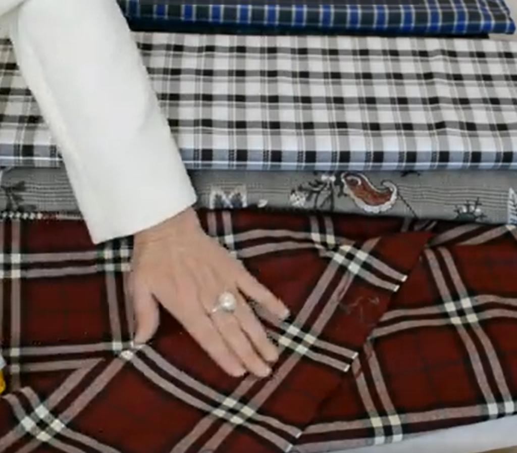Come cucire abiti con tessuti a quadri